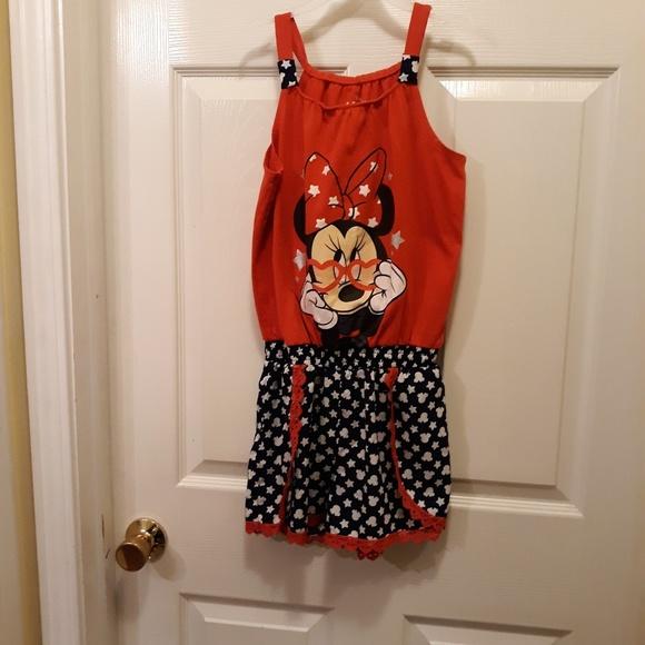 19c7e1f46 Disney Bottoms | Minnie Mouse Girls Romper Size 1012 | Poshmark